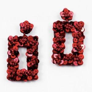 Jewelry - RED SEQUIN EARRINGS